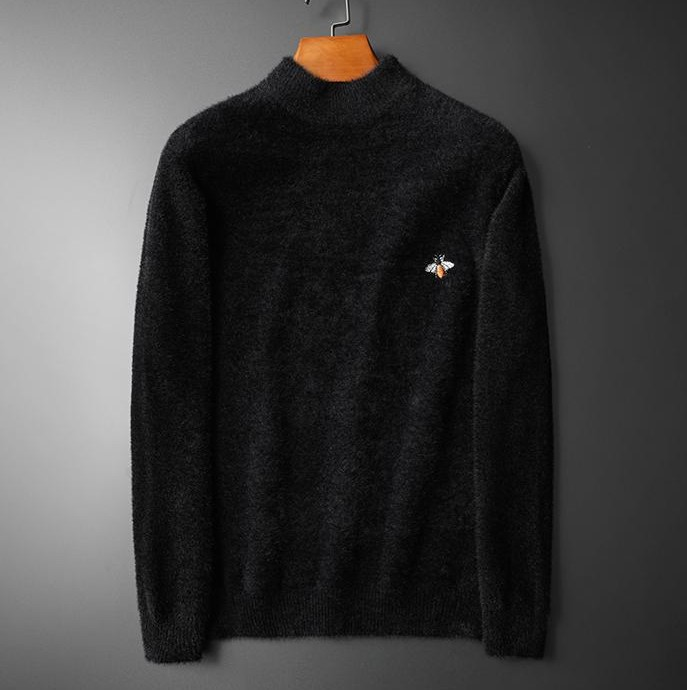 New 2019 Men Luxury Winter Hot Classic Bee Embroidery Casual Sweaters Pullover Asian Plug Size High Quality Drake #M68
