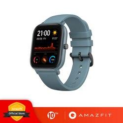 글로벌 버전 Amazfit GTS 스마트 시계 5ATM 방수 수영 Smartwatch 14 일 배터리 음악 제어 샤오미 IOS 전화