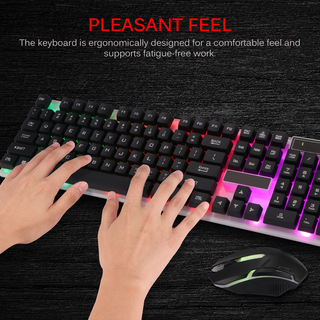 Combo PC Gamer LED Gaming Keyboard And Mouse Set Wired 2.4G Keyboard Gamer Keyboard Illuminated Gaming Keyboard Set For Laptop 2