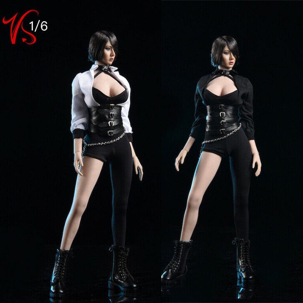 1/6 Female Black Sexy Tights Clothes Set Vstoys 19XG50A/B Model F 12'' PH Women Body Doll Toy