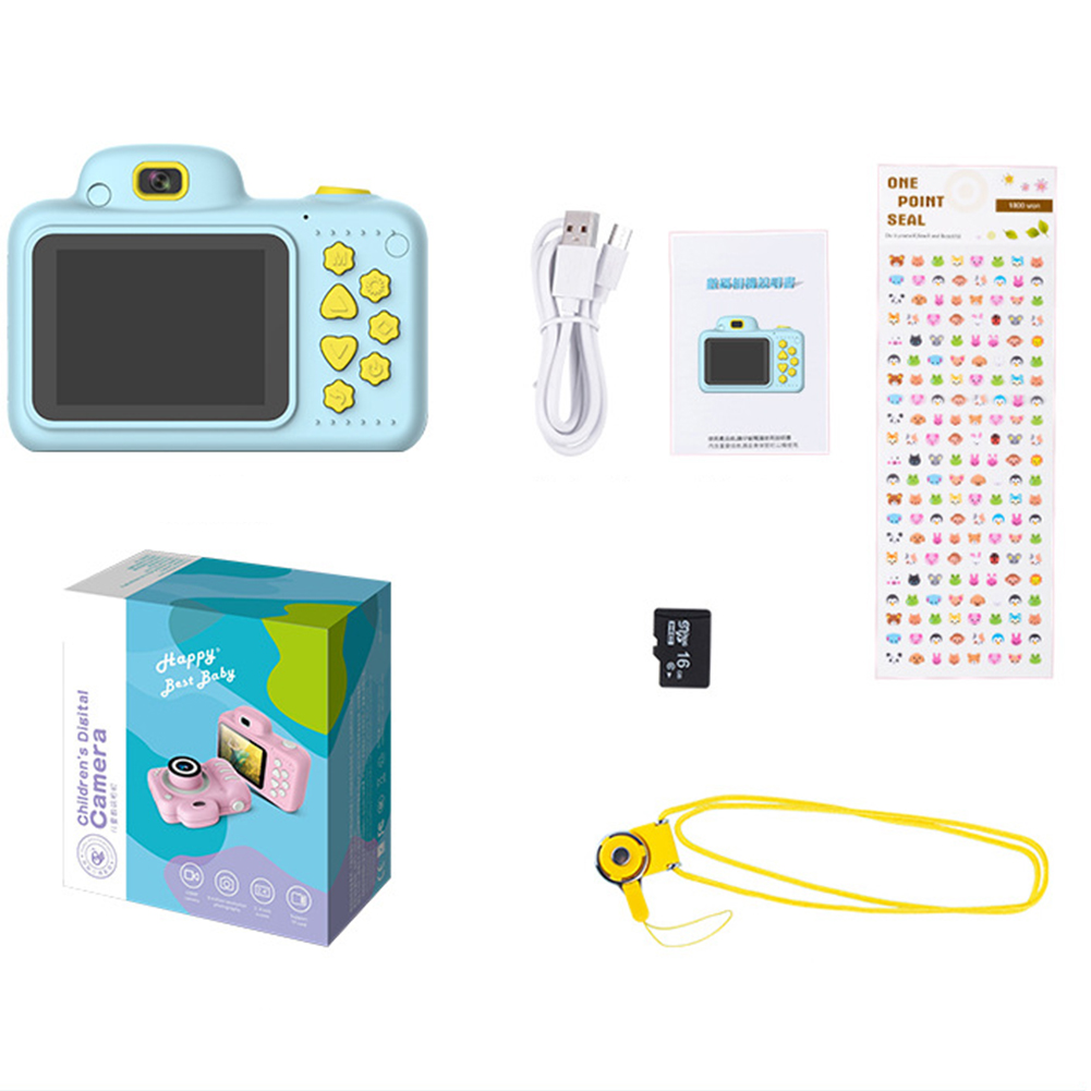 Camera Gifts Video With Memory Card DSLR Camcorder Dual Lens Cartoon Kids Toys Shockproof Mini Digital Camera Gifts Video With Memory Card DSLR Camcorder Dual Lens Cartoon Kids Toys Shockproof Mini Digital ABS 2.4 Inch Screen