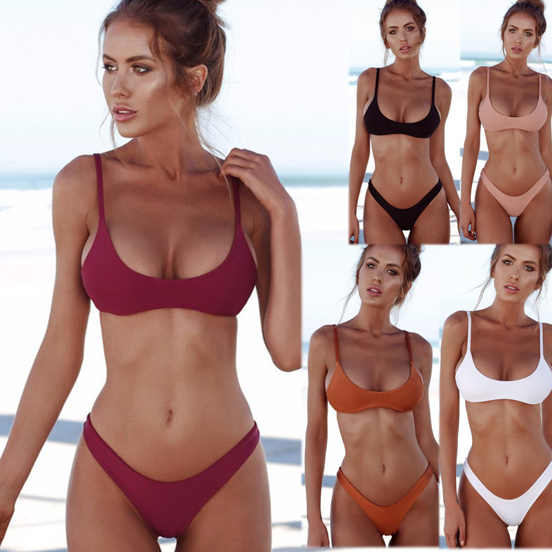 <font><b>2018</b></font> <font><b>women's</b></font> <font><b>swimwear</b></font> <font><b>sexy</b></font> split <font><b>bikini</b></font> bathing suit <font><b>women</b></font> <font><b>brazilian</b></font> <font><b>bikini</b></font> thong <font><b>bikini</b></font> 2 piece <font><b>swimsuit</b></font> <font><b>women</b></font> image