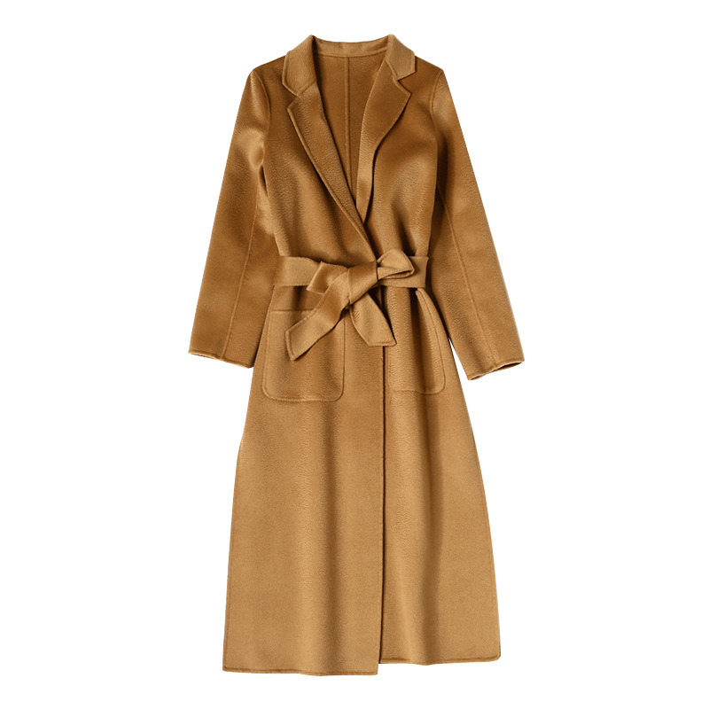 European And American Water Wave Cashmere Coat Women's 2019 New Medium And Long Winter Wool Coat Double-sided Women's Cloth Coat