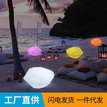 Led Stone Lamp Lawn Landscape Courtyard Lamp Outdoor Grass Solar Pebble Lamp Waterproof Decorative Floor Lamp led party(China)