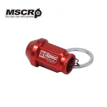UNIVERSAL D1 SPEC Key chain JDM RACING 40MM WHEEL LUG NUTS Auto Car King Rings styling Car-covers Accessories Alloys Key Ring image