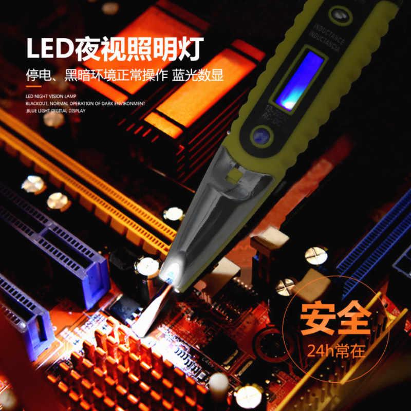 Kỹ Thuật Số Mới Thử Bút Chì Bút Thử Điện Hiển Thị Màn Hình LCD Tua Vít Bút Thử Điện Áp AC DC 12-250V Cho thợ Điện Dụng Cụ