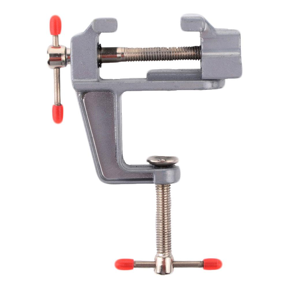 35MM Aluminium Alloy Sturdy Table Bench Clamp Vise Mini Bench Vise Table Screw Vise For DIY Craft Mold Fixed Repair Tool