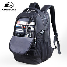 Kingsons Laptop Backpack Men 15.6 Inches Multifunction School Bags Large Capacity Travel Backpacks Waterproof with Rain Cover(China)