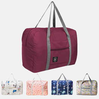 Men Large Capacity Folding Duffle Bag Organizer Waterproof Nylon Girl Weekend Bag Travel Bags Women Packing Cubes Luggage