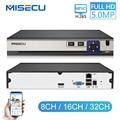 MISECU H.265 Netwok видеорегистратор 8CH 16CH 32CH 5MP 4MP 2MP выход Обнаружение движения ONVIF NVR для ip-камеры Металл ТБ