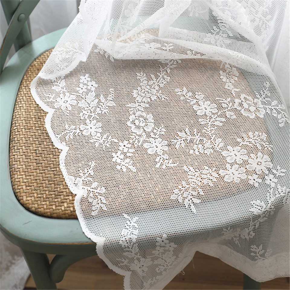 European White lace sheer curtains  for living room bedroom  window tulle  kitchen curtains short drapes home decor