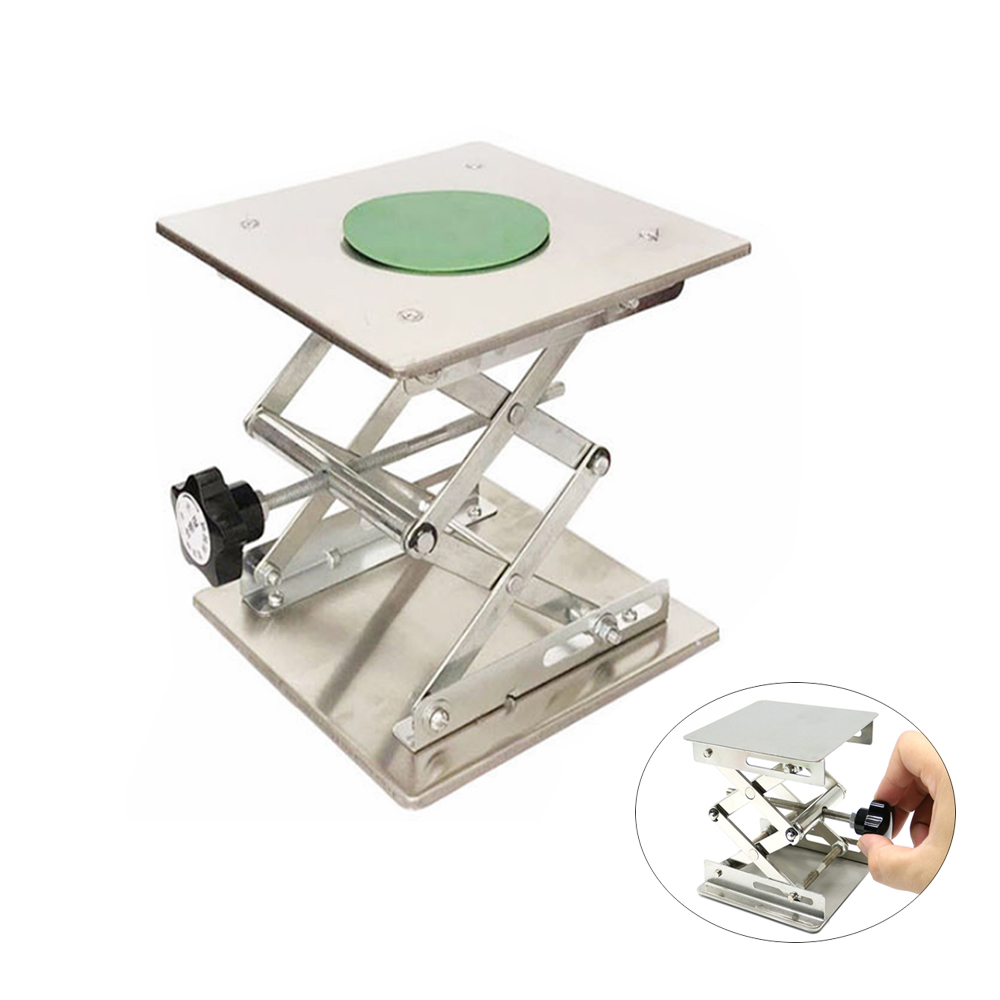 Laboratory Lifting Platform 150x150mm 200x200mm Stainless Steel Stand Laboratory Adjustable Mobile Lifting Platform Desktop Lift