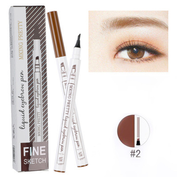4 Head Eyebrow Pencil Extremely Fine-grained Waterproof Liquid Eye Brow Pencil Lasting Not Fade Makeup Tools Hot TSLM1 image