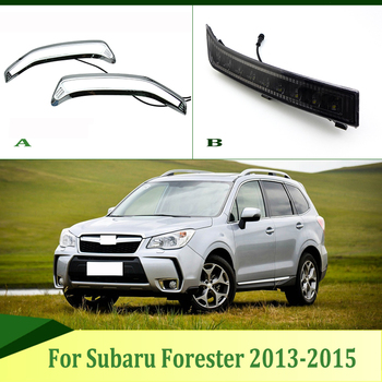 2pcs For Subaru Forester 2013-2015 LED Daytime Driving Running Light DRL Car Fog Lamp 6000K White Light Turn Yellow Light