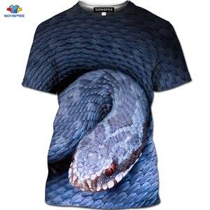 SONSPEE 3D T koszula kobiety letnie koszulki w stylu Harajuku South Side węże koszulka damska Riverdale nadruk z wężem zabawna koszulka w stylu Vintage koszula