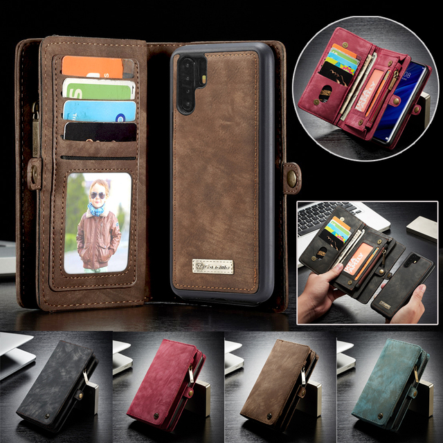 Luxury Business Leather Purse Case For Huawei P30 Pro P20 Lite Flip Wallet Cover Magnetic Phone Bag Cases For Huawei Mate 20 Pro