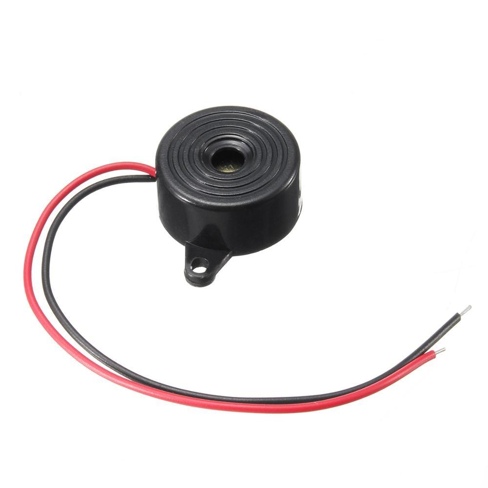 Dc 3-24 v carro 95db alarme eletrônico buzzer sinal sonoro contínuo piezo piezoelétrico som beeper carro accessries