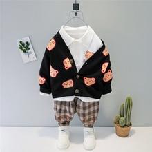 Kids Toddler Pants Clothing-Sets T-Shirt Spring Bear-Coats Baby-Boys Casual Cartoon HYLKIDHUOSE