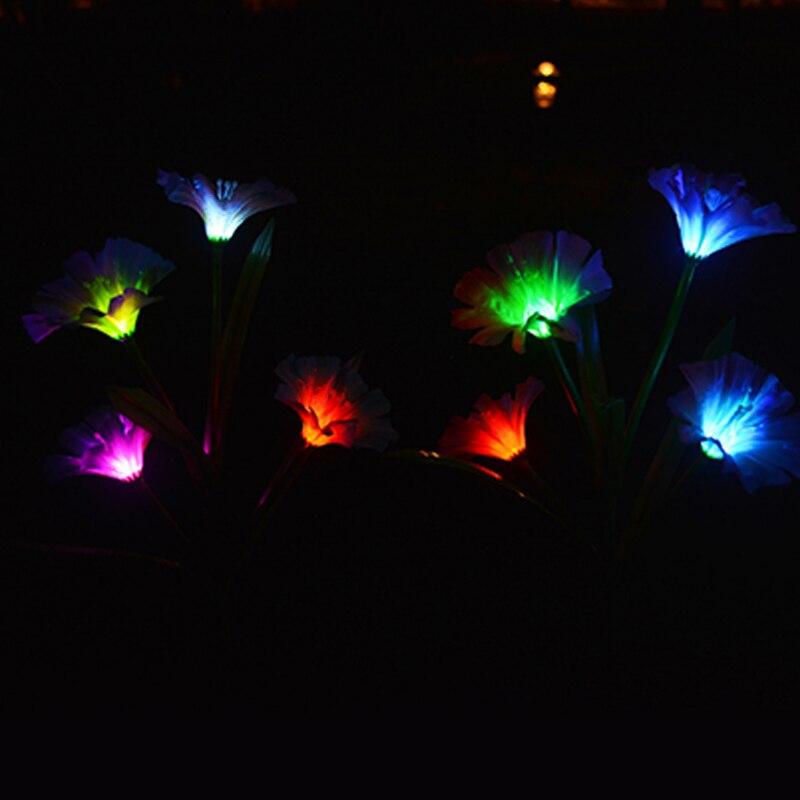 decoração da flor lâmpada do gramado colorido