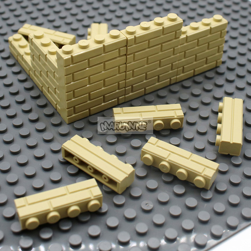 Image 3 - MARUMINE City Part 1x4 Dots Bricks 15533 Houses Wall Building Blocks Compatible Learning Classic DIY MOC Educational Toy SetStacking Blocks   -