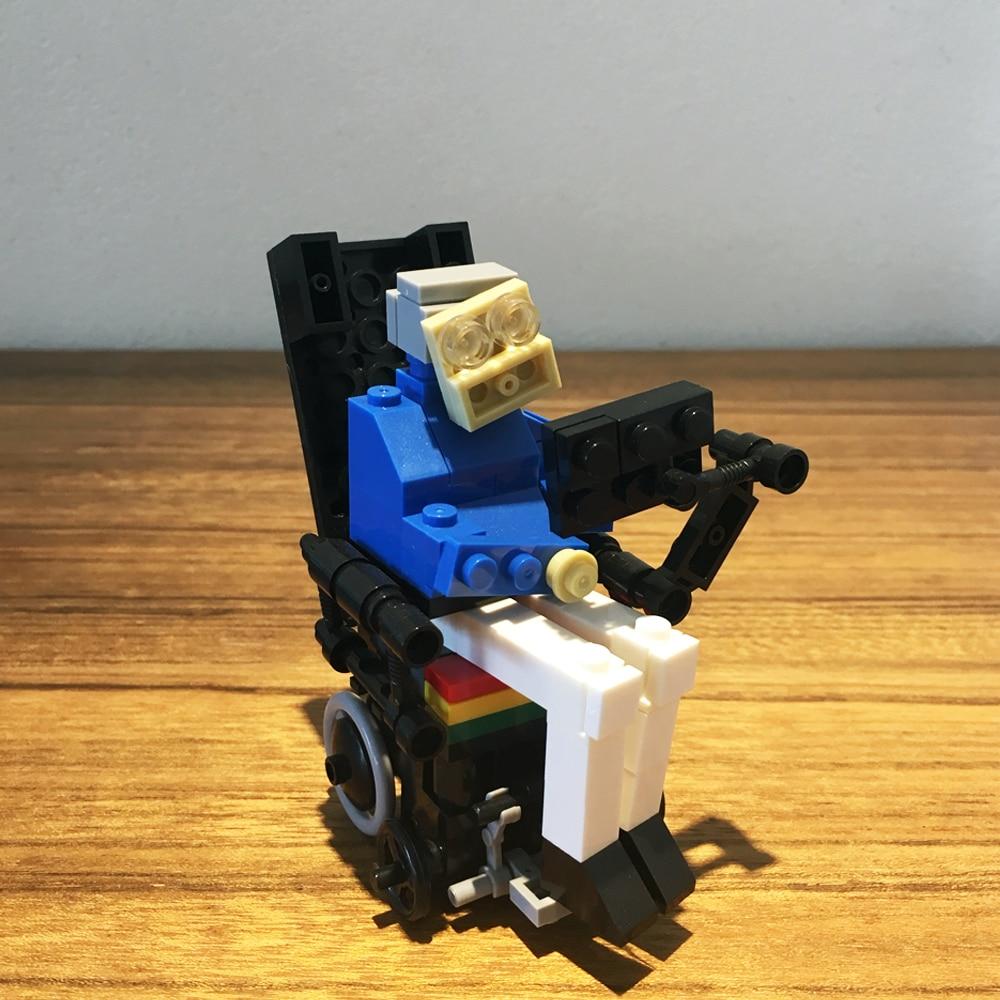 120+pcs MOC Set DIY Stephen Hawking Mini Figures Creative Collection Educational Model Building Blocks Toys Bricks Bag For Kids