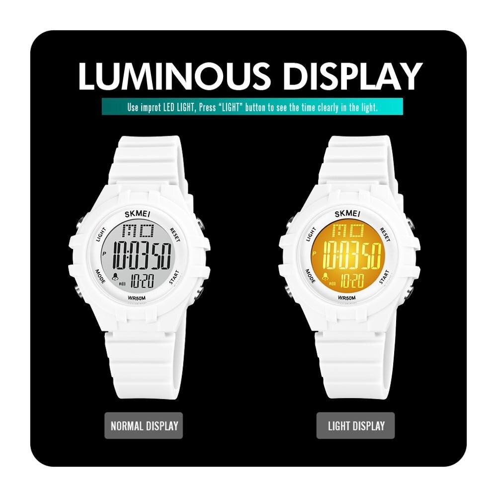SKMEI Япония Цифровой движение LED Дисплей Дети Спорт Часы 5 бар Водонепроницаемый Дети Наручные Часы Часы Мальчики Девочки День рождения Подарок