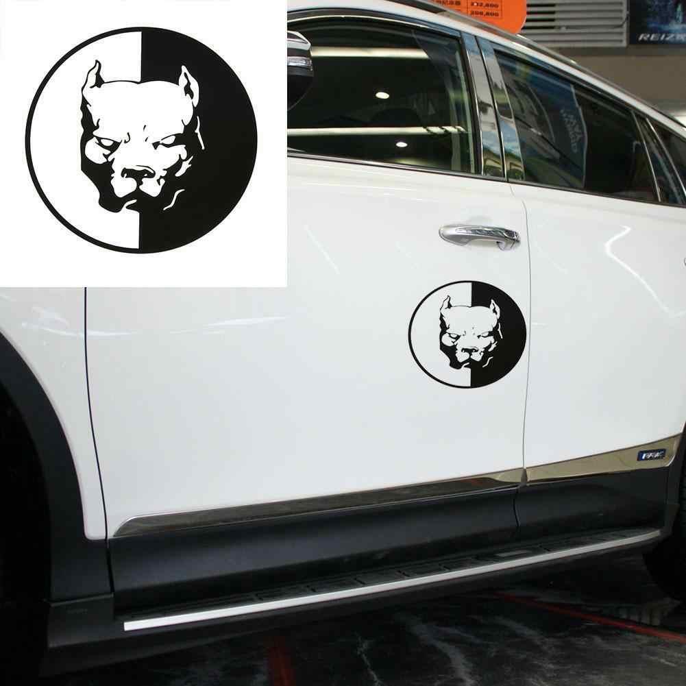 Diameter12 Cm Pitbull araba Sticker ve çıkartmaları motosiklet araba Styling aksesuarları dış aksesuarlar araba çıkartması