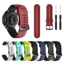 Esporte silicone pulseira de pulso para garmin forerunner 235 220 230 620 630 735xt pulseiras relógio acessórios