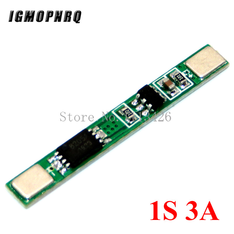 5PCS/LOT <font><b>1S</b></font> 3.7V 3A li-ion BMS PCM <font><b>battery</b></font> <font><b>protection</b></font> <font><b>board</b></font> pcm for 18650 lithium ion li <font><b>battery</b></font> image