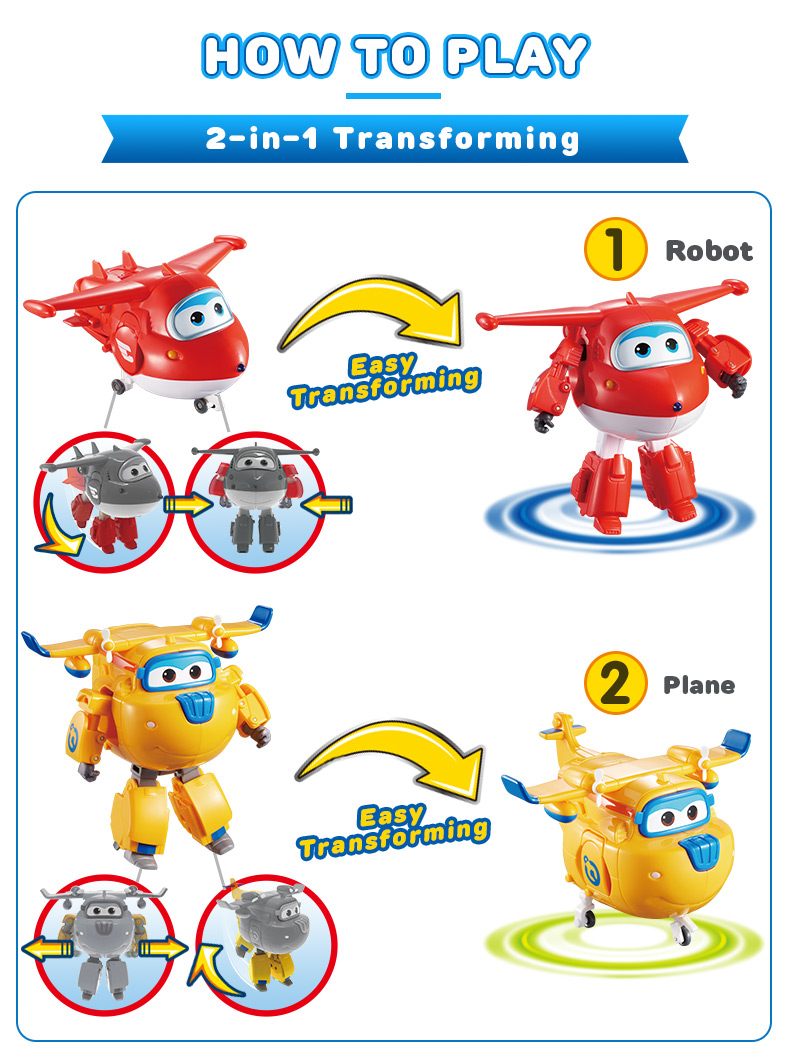 Super Wings Transforming 5 inch Airplane Robots 9