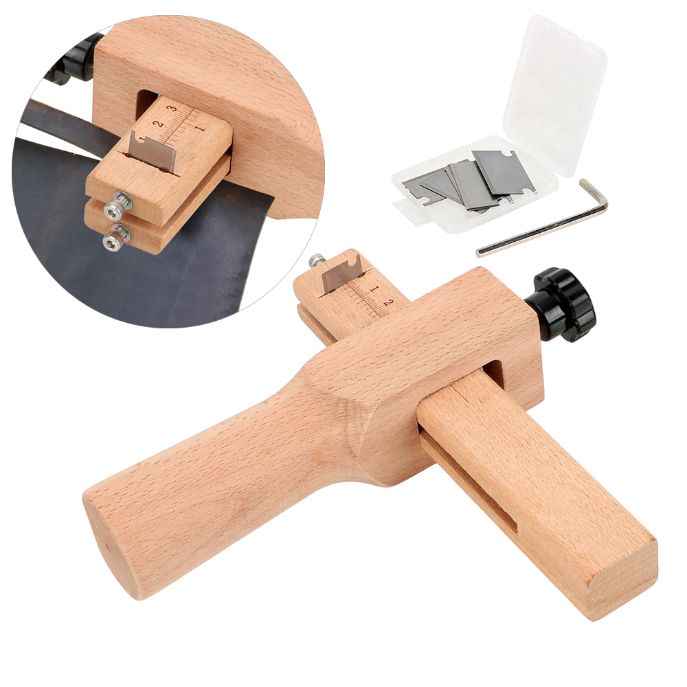 Leather Strap Cutter Leather Craft Strip Belt Maker With 5 Sharp Blades and Allen Wrench Leather Tools Hand Cutting Tool