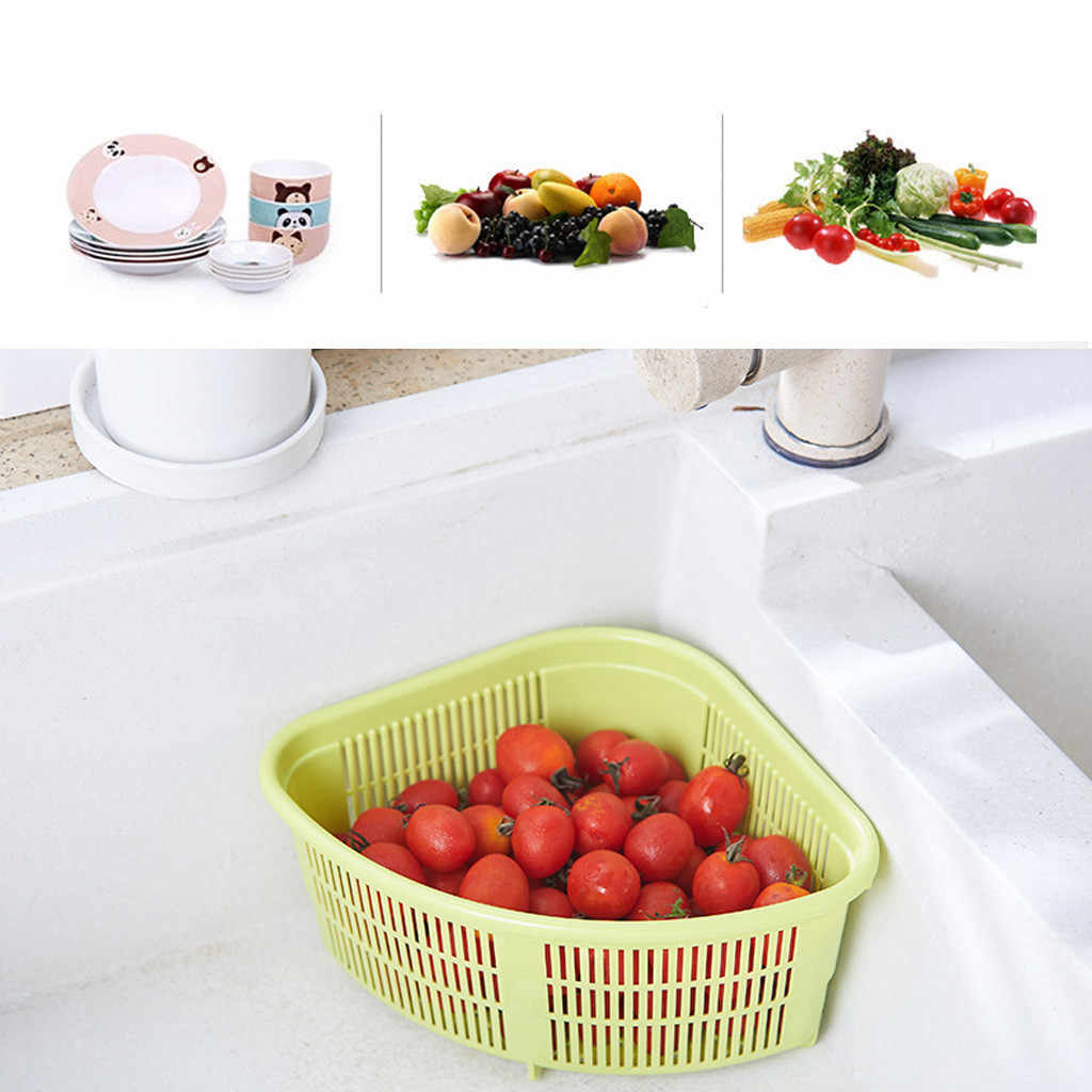 Wielofunkcyjna umywalka stojąca suszarka chowany schowek warzywa kosz suszarka do naczyń organizer sitko kuchenne J50
