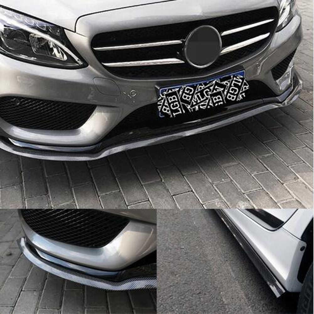2.5m Universale Auto Protezione Paraurti Anteriore Lip Splitter Autoadesivo Dell'automobile per BMW 1 3 4 5 7 Serie X1 x3 X4 X5 X6 E60 E90 F15 F30 F35