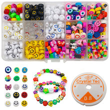 Soft Pottery Smile Beads Kit For Jewelry Making 15 Colors Smiley Beads Bracelet Necklace Accessories Christmas Gift Wholesale