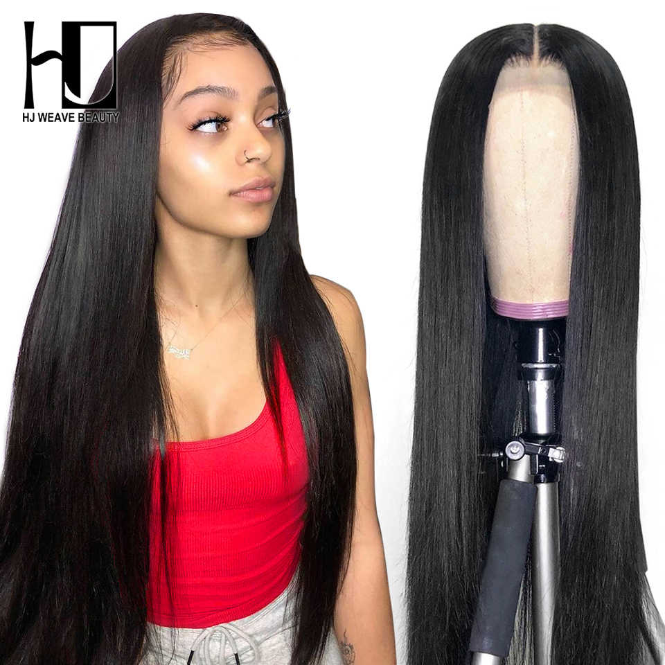 Lace Front Human Hair Wigs Straight Pre Plucked Hairline 8-30Inch 13x6 Brazilian Long Human Hair 360 Lace Frontal Wigs