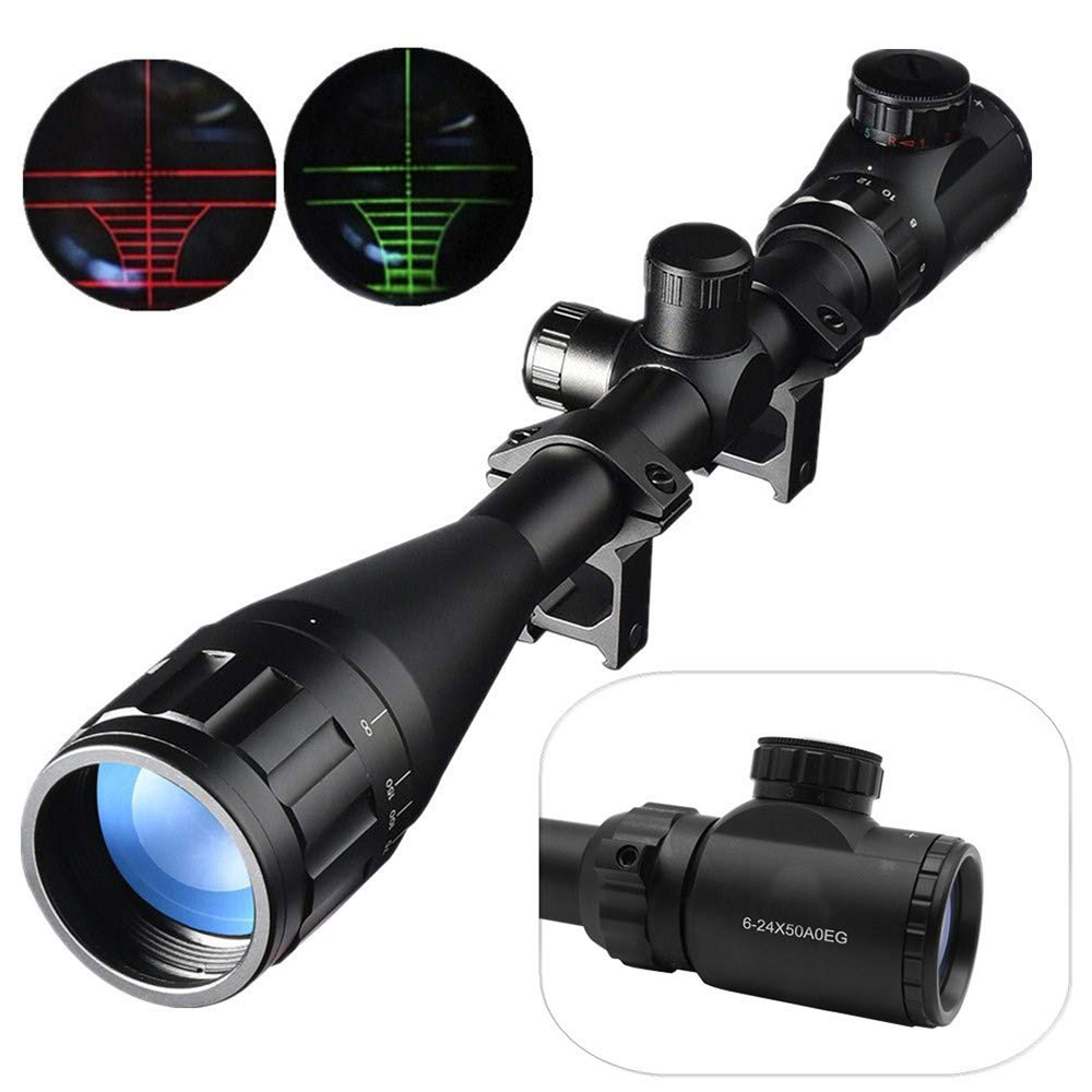 Gullfaxi Optic Sight 6-24X50AOEG Long Lens Telescopic Sight Rifle Airsoft Gun Sniper Sighting Device Outdoor Weapon Sight