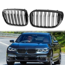 Car Glossy Gloss Black M Double Front Kidney Grill Grille Fit for BMW 7 Series G11 G12 16-19