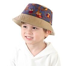 Hat Baby-Hat Children's And Boys Print Basin Fisherman's-Hat Sunscreen Girls New