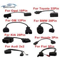 Câble de Diagnostic pour BMW, câble de Diagnostic pour voiture Opel, 10 broches, 12 à 16 broches, adaptateur de connecteur pour voiture, câble OBD2, elm327