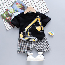 Boys Clothes Set Summer Toddler Baby Clothes Boys Cartoon Tops Print Shorts 2pcs Beach Kids Outfits Sets Child Tracksuit