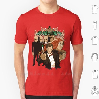 Jikan No Hanshu T Shirt Big Size 100% Cotton Dr Who Who 11Th The Silence Daleks Amy Pond Rory Pond image