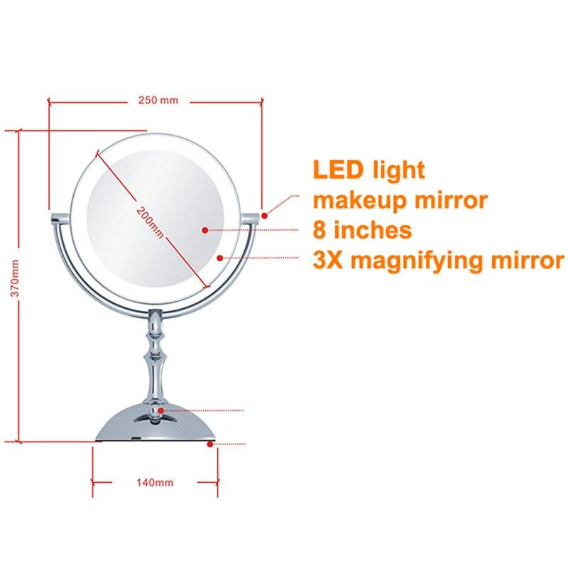 8 Polegada espelho de maquiagem usb recarregável