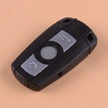 DWCX 3 Button Plastic 868MHz Remote Car Keyless Entry Key Fob Black Fit for BMW CAS3 X5 X6 Z4 1 5 6 7 E70 E71 E72 F01 F02 F04