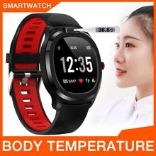 T01 Body Temperature Monitor Smart Watch ECG PPG Heart Rate