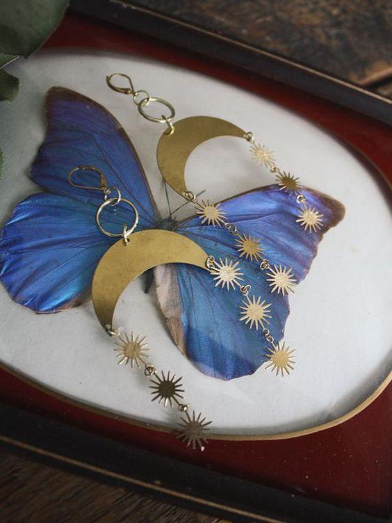 Серьги Moon & Sun в стиле бохо, богемные украшения в стиле хиппи, небесный столик, подарок
