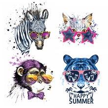Животные акварельные наклейки для одежды, железные нашивки, сделай сам, термопереводная нашивка для одежды для мальчиков и девочек, футболка с аппликацией, украшение