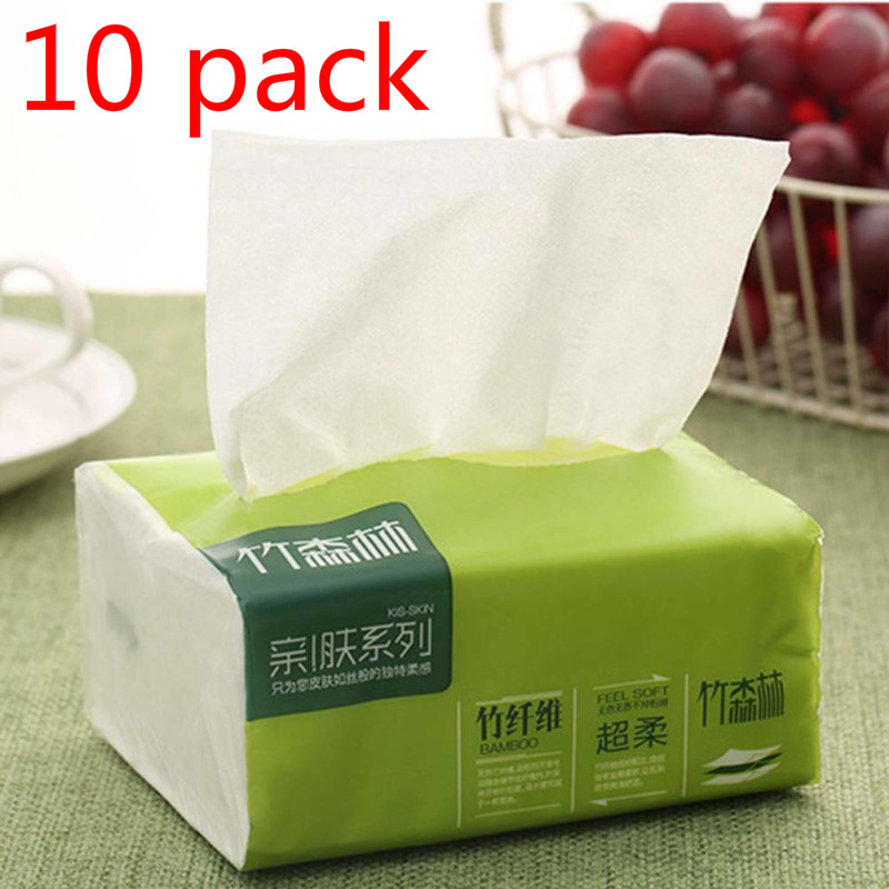 10 Packs Log Pumping Paper Of Pumping Paper Towels Kitchen Paper Household Paper Towels Baby Tissues Facial Tissue Paper NEW