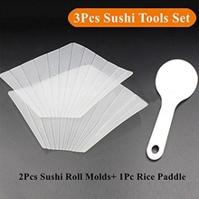 DIY Handmade Sushi Rice Ball Hand Roll Mold With Rice Spoon for hand-made Household Sushi  Maker Tools Kitchen Gadgets