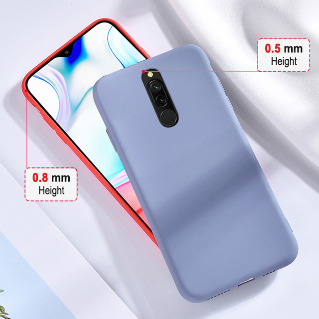 Case For Redmi 8 7 Candy Colors Covers Soft TPU Liquid Silicone Cases For Xiaomi Redmi8 Redmi7 Redmi 8 7 7A 8A Case Cover