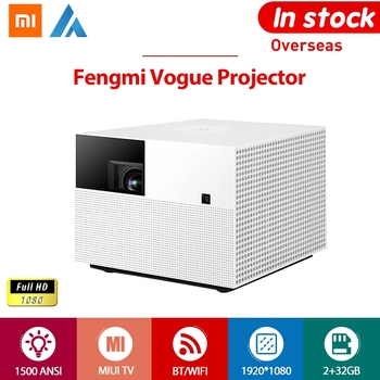Proiettore Vogue Xiaomi Fengmi Full HD 1080P 8K DLP 1500ANSI 2GB 32GB MIUI TV Bluetooth WIFI Proiettore Home Theater Android Amlogic 1.1 1 HDR10 200inch 3.5mm HDMI, LAN, SPDIF, USB Side Projection